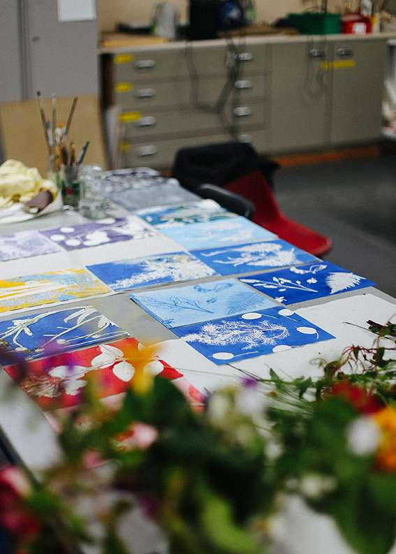 Mindfulness and Monoprinting with Plants at Seacourt Print Workshop