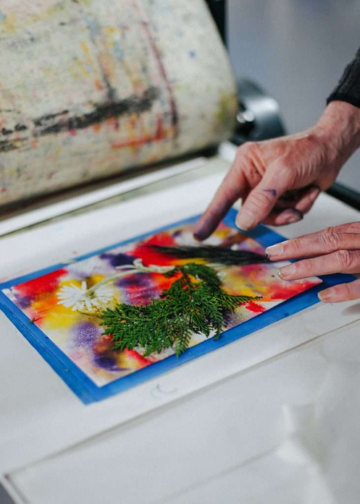 Mindfulness and Monoprinting with Plants