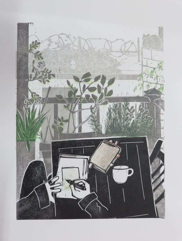 Nathalie Caleyron at Seacourt Print Workshop