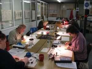Wood Engraving at Seacourt Print Workshop